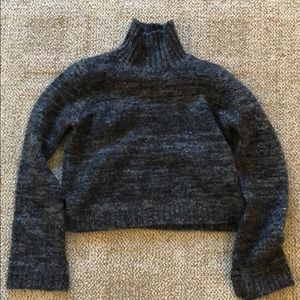 Zara Cropped Turtleneck Sweater